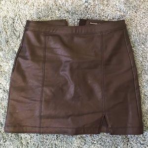 Black Leather Skirt!